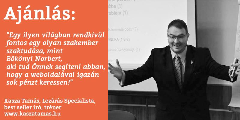 Kasza Tamás, Lezárás specialista, best seller író, tréner